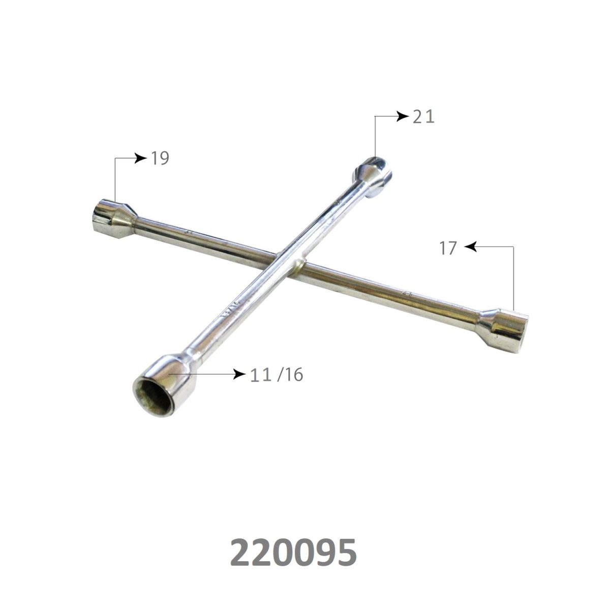 SARV Universal 4 way Cross Hex ,Wheel Nut Wrench 17mm X19mmx21mm x11/16″ ,Combination mm & SAE lug wrench