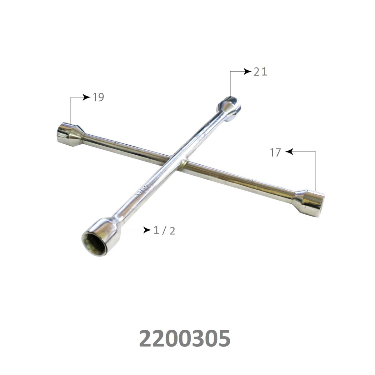 SARV Universal 4 way Cross Hex ,Wheel Nut Wrench 17mm X19mmx ,Combination mm & SAE lug wrench