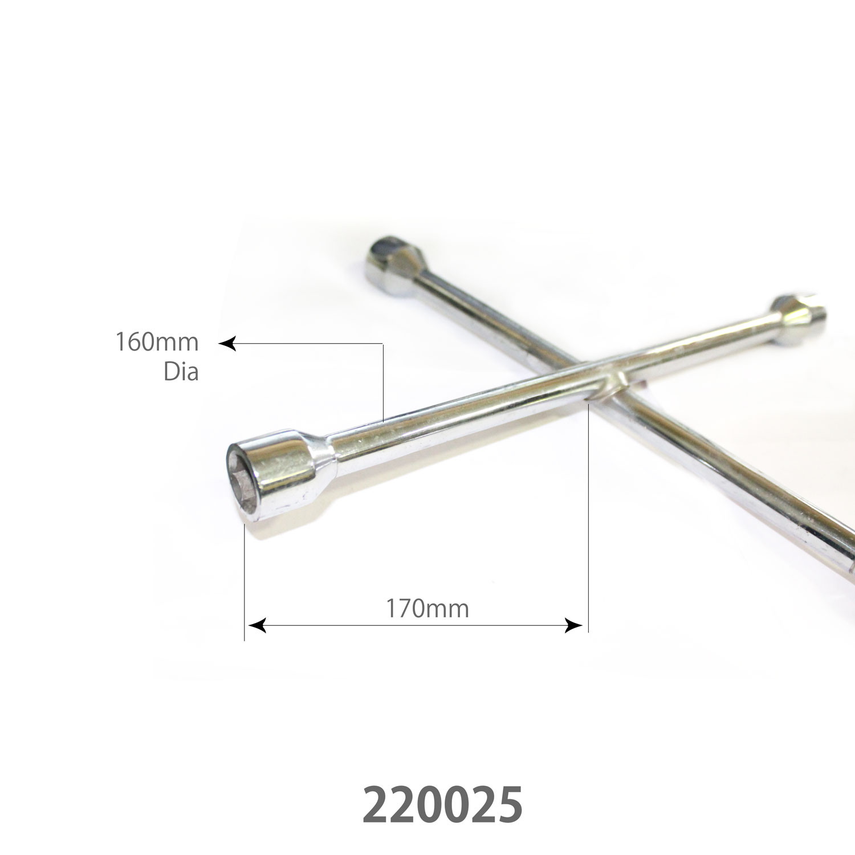 SARV Universal 4 way Cross Hex ,Wheel Nut Wrench 17mm X19mmx21mm x22mm