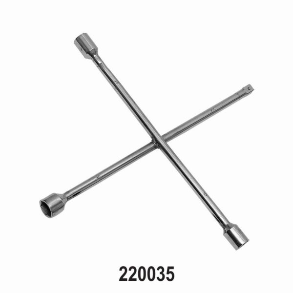 Four way Wheel Nut Wrench for Passenger Cars 17 x 19 x 22 x 1/2? square