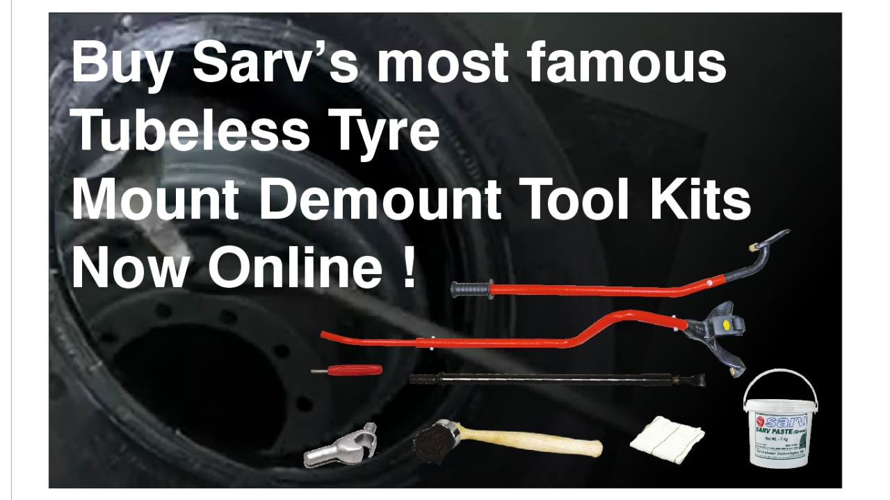 Tubeless Truck Tyre Changing Kit